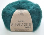 DROPS Brushed Alpaca Silk - 11 forest green