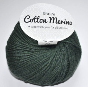 DROPS Cotton Merino - 22 dark green