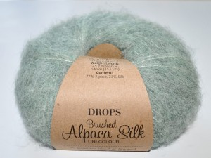 DROPS Brushed Alpaca Silk - 21 sage green