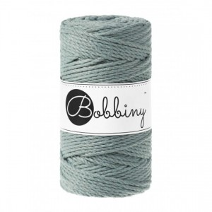 SZNUREK do MAKRAMY 3PLY - 3 mm - blady zielony