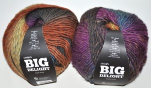 DROPS Big Delight - 10 olive/rust/plum