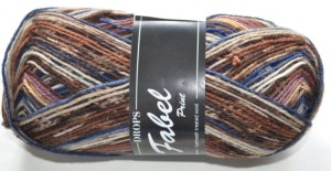 DROPS Fabel - 520 brown/blue