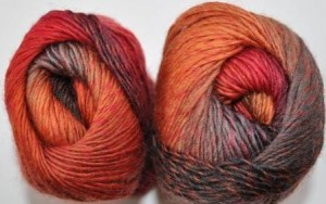 DROPS Delight - 13 red/orange/grey mix